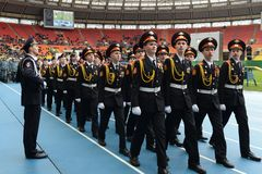 Moscow cadets. Royalty Free Stock Images