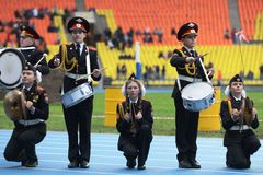Moscow cadets. Stock Photo