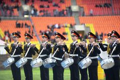 Moscow cadets. Royalty Free Stock Photography