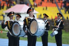Moscow cadets. Royalty Free Stock Photo