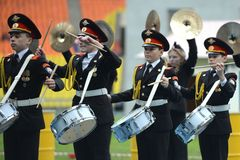Moscow cadets Royalty Free Stock Image