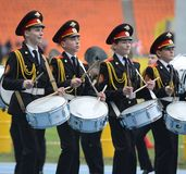 Moscow cadets Royalty Free Stock Images