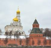 moscow Catedral do arcanjo e do aviso imagens de stock