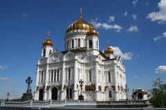 Moscow Cathedral. The restored Cathedral of Christ the Savior in Moscow Stock Photo