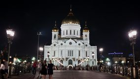 Moscow, Cathedral of Christ the Savior, Hyperlapse stock video