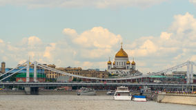 Moscow: Cathedral of Christ the Savior from river Royalty Free Stock Photos