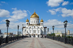 Moscow Cathedral of Christ the Saviour, front side Stock Photo