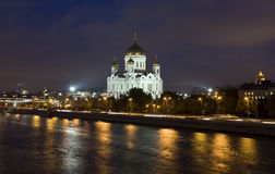 Moscow, cathedral of Jesus Christ Saviour Royalty Free Stock Photography