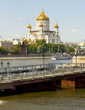 Moscow, cathedral of Jesus Christ Saviour Stock Photography