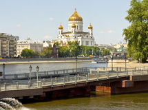 Moscow, cathedral of Jesus Christ Saviour Royalty Free Stock Image