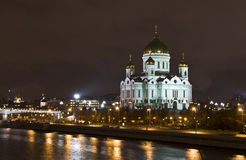 Moscow, cathedral of Jesus Christ Saviour Stock Photos