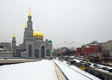 Moscow Cathedral Mosque remodel from 2007-2015. In place of the old mosque. Opened on 23 September 2015 Stock Photo