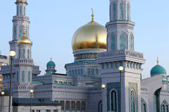 Moscow Cathedral Mosque, Russia -- the main mosque in Moscow royalty free stock images