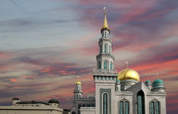 Moscow Cathedral Mosque, Russia -- the main mosque in Moscow stock image