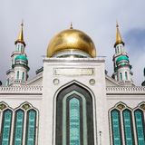 Moscow Cathedral Mosque in sunny spring day royalty free stock image