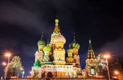 Moscow cathedral at night Royalty Free Stock Photography