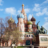 Moscow the Cathedral of Saint Basil the Blessed 2011 Royalty Free Stock Photos
