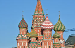 Moscow, Cathedral of Saint Basil. Stock Photo