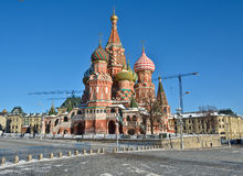 Moscow, Cathedral of Saint Basil. Stock Photography