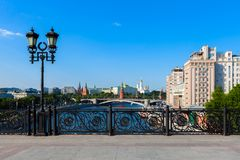 The Moscow center attractions stock image