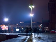 Moscow center night Royalty Free Stock Photos