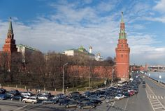 Moscow, the center, traffic jam Royalty Free Stock Photo