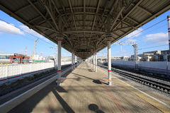 Moscow Central Circle - Little Ring, MCC,or MK MZD,  Russia. ZIL railway station Royalty Free Stock Photography