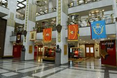 Moscow. Central Museum of the great Patriotic war on Poklonnaya hill. The interior of the Museum Stock Photo