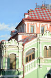 Moscow Chamber of the Yusupov in the Small Kharitonievsky Lane Historic Building The Evening Royalty Free Stock Photography