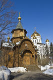Moscow, chapel and cathedral Royalty Free Stock Photos