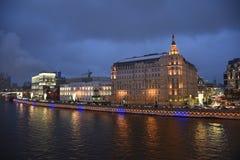 moscow chodzić Moskwa zima Zdjęcia Stock
