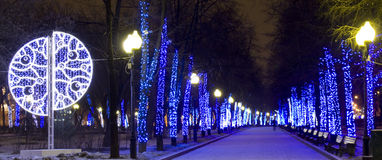 Moscow Christmas Royalty Free Stock Photography