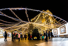 MOSCOW, Christmas Fair at the Manege square Royalty Free Stock Photos