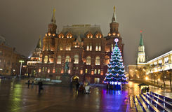 Moscow, Christmas tree Stock Photography