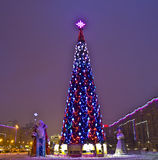 Moscow, Christmas tree on Stock Photography