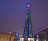 Moscow, Christmas tree on Stock Photo