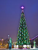 Moscow, Christmas tree on Stock Images