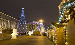 Moscow, Christmas tree Royalty Free Stock Photo
