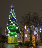 Moscow, Christmas tree Royalty Free Stock Image