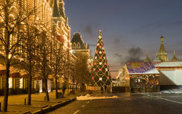Moscow, Christmas tree Royalty Free Stock Photography