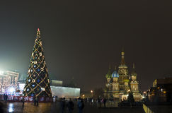Moscow, Christmas tree on Red square Stock Image