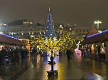 Moscow, Christmas trees Stock Images