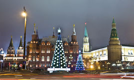 Moscow, Christmas trees Royalty Free Stock Image