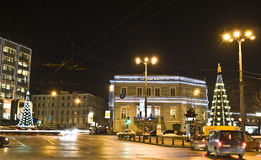 Moscow, Christmas trees Royalty Free Stock Photography