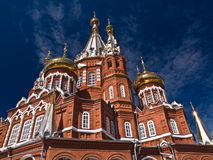 Moscow church. Small Moscow church of 18 centuries Royalty Free Stock Image