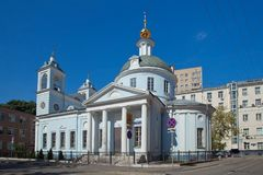 Moscow. Church of the Dormition of the Theotokos in Mogiltsy. Royalty Free Stock Image