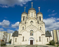 Moscow, church in Maryino Stock Photos