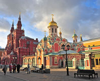 Moscow church and museum, Red Square Stock Images
