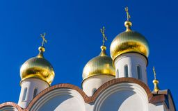 Moscow, Church, Orthodox, Gold Royalty Free Stock Photos