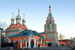 Moscow. The Church of St.  Gregory Of Neocaesarea. Stock Photos